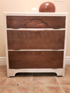 Refinished Distressed Solid Oak Dresser