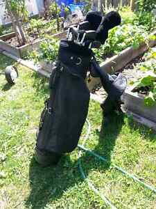 MEN'S GOLF CLUBS WITH BAG AND PUSH CART Cambridge Kitchener Area image 1