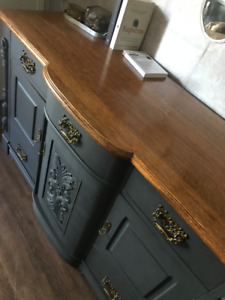 AMAZING Antique Hutch/Sideboard/Buffet - MUST SEE!