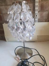 2 x Crystal lampshades