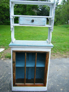 Shabby Chic Cottage Hutch/Cupboard. Handmade, Solid Wood