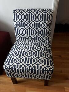 Chaise d'appoint style contemporain