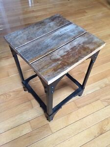 """""""Reclaimed"""" wood end table (small)"""