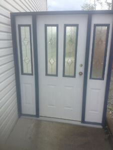 Excellent condition exterior steel door