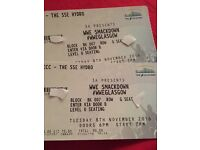 2 7th row ringside tickets for WWE Smackdown live at the hydro!
