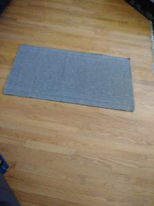 Taupe/Grey Floor Mat -Rubber Backed