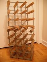 Tradition Wine racks - light Oak and Steel - Supports à vin Chên