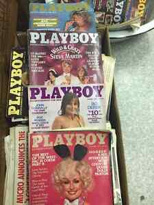 We have few play boy magazines