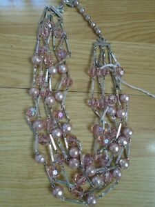 18 Inch Pink Sherman Crystal Necklace
