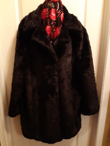 """Penningtons, Faux Fur Sheared, Swing Coat"""
