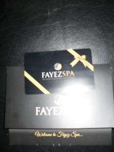 Fayze Spa gift card