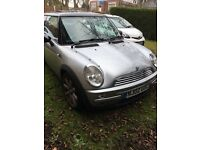 Silver mini 2002 1.6 cooper part leather panoramic sunroof