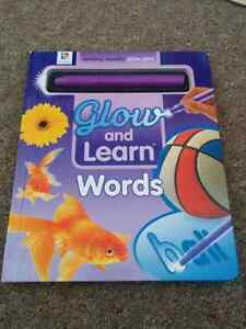 Glow and learn words book
