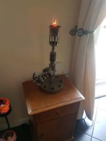 Unique one off steam punk industrial lamp