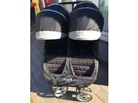 Baby jogger city mini double, bag & 2 footmuffs. Excellent condition. Great package deal