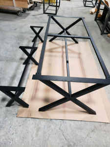 Heavy duty custom made metal table frame and base for sale