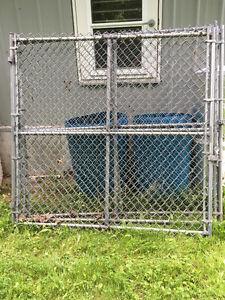 Porte pour clôture en acier galvanisé