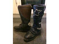 Alpine star motorcycle boots motoX size 11
