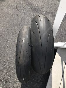 Dunlop sportmax tires almost new 120 front 180rear
