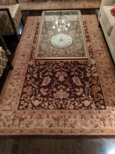 Nourison Heritage Hall - Two Brown Area Rugs (8.5x11 & 5.5x8.5)
