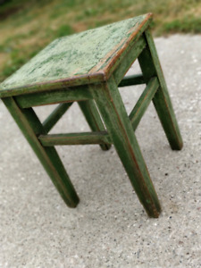 Antique wooden stool or side table (very solid)
