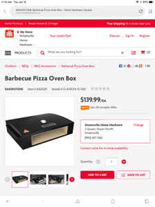 BakerStone Pizza Oven Box for sale