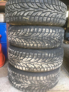 4 X Steel Belted Radial Snow Tires on rims from 2014 VW Golf