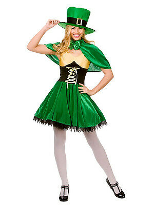 Ladies Lucky Leprechaun Sexy Irish St Patricks Day Fancy Dress Costume Outfit BN](Lucky Lady Costume)