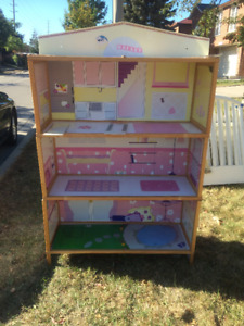 Wooden Doll House $10