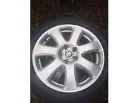 "Genuine 17"" jaguar alloys"