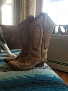 Authentic handmade leather cowboy boots