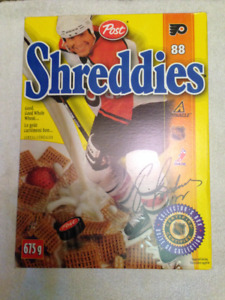 Eric Lindros Shreddies Cereal Box