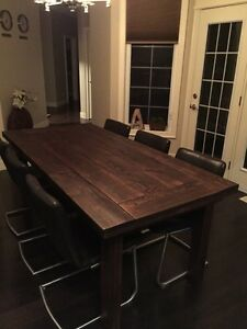 Harvest table, Black walnut dining/ kitchen table