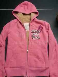 Girls youth Aeropostale Fur Lined Coral Hoodie - Sz S