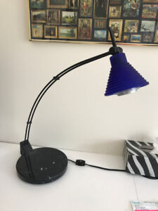 DESK LAMP black with marble base