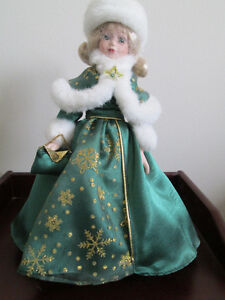 Avon Collectible Doll Collection Porcelain Holiday Doll
