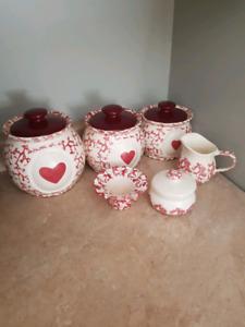Beautiful ceramic canister set