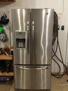 Maytag frech style door stainless steel fridge for sale - LIKE