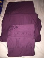 Brand New Queen Size Bed Sheets - Pretty Deep Plum Colour