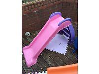 Little tikes pink slide