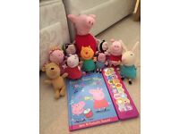 Peppa pig toys and cuddly toys