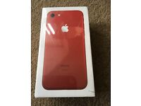Apple iPhone 7 128GB brand new boxed sealed red..