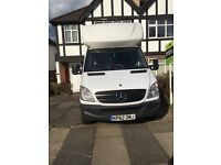 Mercedes sprinter luton with tail lift