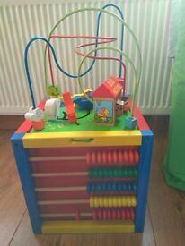 "Imaginarium Giant Abacus Bead Maze Activity Cube ""Zoo House"""