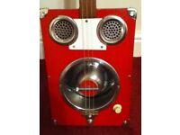 Dog bowl 3 string electric slide guitar