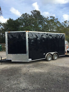 2017 8.5 ft x16 ft Enclosed Snowmobile Trailer