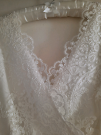Ivory Wedding Dress and shoes