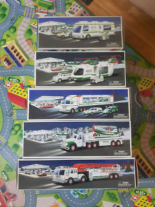 5 collectable HESS trucks