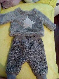 Next 0-3 months boy outfit winter fluffly