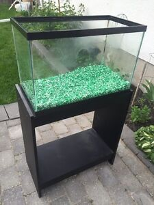 20 Gallon Pet Tank with stand and tank accessories